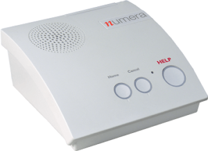 Numera Wired Based Station for a Home based medical alert system. MediGuardUSA, Omaha, NE