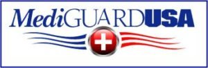 MediGuardUSA logo. Personal Medical Emergency alert systems. Omaha, NE