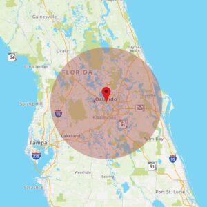 MediguardUSA Orlando Pin Drop Map